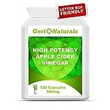 Gert Naturals, High Potency Apple Cider Vinegar, 500mg, 120 Capsules