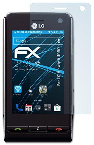 atFoliX Displayschutzfolie für LG KU990 Viewty - FX-Clear: Display Schutzfolie kristallklar! Höchste Qualität - Made in Germany!