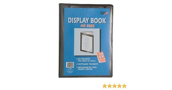 Tiger Presentation Display Book A5 20 Pockets
