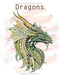 Livre de coloriage pour adultes Dragons 1 & 2