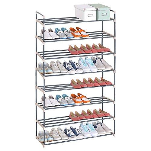 WOLTU® SR0019-a Schuhregal Schuhständer Schuhablage, 8 Schicht für 40 Paare Schuhe, XXXL Ständer Regale, 92x30x154cm, beige