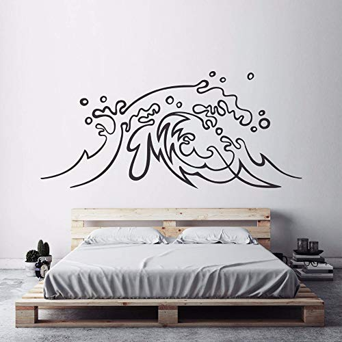 daufkleber Ocean Wave Vinyl Wandtattoo Surf Art Home Schlafzimmer Dekor Strand Thema Meereswellen Wandbilder 93 * 42 cm ()