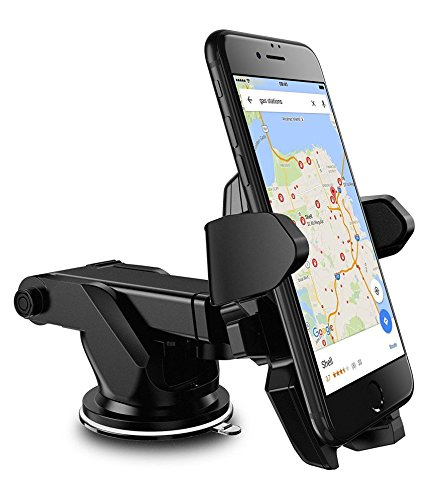 Able Long Neck One Tuch Car Mount Mobile Holder (Black)