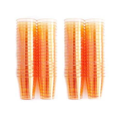 80 Transparent/Orange/verres colorés en plastique de qualité alimentaire