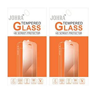 Johra Pack of 2 Tempered Glass for Reliance Lyf Earth 2 Tempered Glass Screen Guard