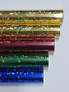 5 Rollen Hologrammfolie Holografische Folie Folia 40cm x 100 cm selbstklebend