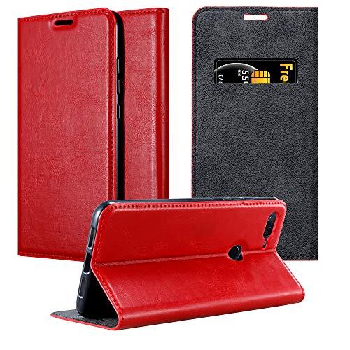 Cadorabo Funda Libro para Xiaomi Mi 8 Lite en Rojo Manzana - Cubierta Proteccíon con Cierre Magnético, Tarjetero y Función de Suporte - Etui Case Cover Carcasa