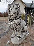 große Löwenfiguren für Garten 1,40M hoch Gewicht 650KG !!