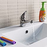Lavabo Chromé monobloc robinet mitigeur Petite salle de bain moderne à levier robinet