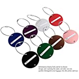 NUOLUX Travel Luggage Tag Baggage Handbag ID Tag Name Card Holder with Key Ring 8 Color