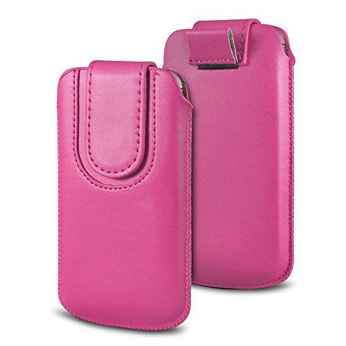 Preisvergleich Produktbild fürN4U Online - Various gefärbt Pu Leder Schutzhülle Magnetisch Flip Schutzhülle Etui Mit Lasche For Wileyfox swift 2 plus - Hot Pink