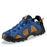Salomon Herren Techamphibian 3 Trekking-& Wanderhalbschuhe, Gelb (Bright Marigold/Nautical Blue/Black 000), 45 1/3 EU