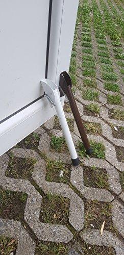 2 Türstopper aus Metall Türhalter lackiert Farbe BRAUN mit Gummi Aufsatz für Außen und Innen