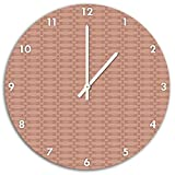 Muster Vintage Altrosa, Wanduhr Durchmesser 48cm mit weißen spitzen Zeigern und Ziffernblatt, Dekoartikel, Designuhr, Aluverbund sehr schön für Wohnzimmer, Kinderzimmer, Arbeitszimmer