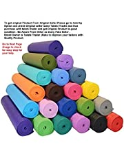 Unique Decor Extra Thick High Density Yoga mat with Upgraded Non-Slip Material, Eco Friendly Exercise & Workout Floor Exercises Mat with Anti-Tear Exercise (Size-24 X 72 inch) 4mm Thick|Color-Multi
