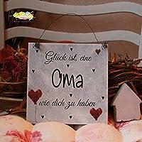 Shabby Style Holzschild - Glück ist, eine Oma wie dich zu haben ~ Großmutter ~ Weihnachten ~ Geschenk