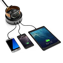 Loveblue For Samsung Gear S3 Wireless Charger Stand, Charging Dock Cradle With 3-port Usb Cable For Samsung Gear S3 Smart Watch Accessory Samsung Gear S3 Frontiers3 Classic Gear S2s2 Classic Moto 360 2nd Gen Moto 360 Sport