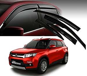 Autopearl Car Side Window Visor for Maruti Suzuki Brezza (Set of 4)