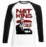 Photo de Teesquare1st Men's NAT KING COLE JAZZ Black Long Sleeved T-shirt par TEESQUARE1st