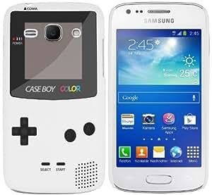 Etui de créateur pour Samsung Galaxy Ace 3 - Etui / Coque / Housse de protection blanc en Plastique Rigide (arrière rigide) avec motif cool gameboy couleur