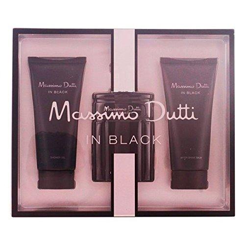 Massimo Dutti In Black Set de Agua de Colonia, Bálsamo para Después del Afeitado y Gel de Ducha - 300 ml (precio: 19,95€)
