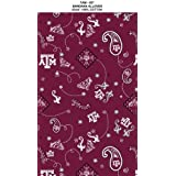 Texas A&M Bandana Maroon on Cotton Fabric - Sold By the Yard by Sykel