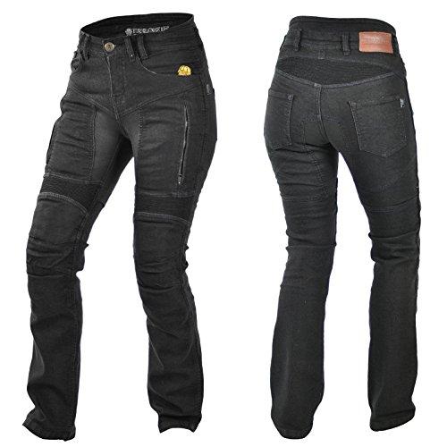Trilobite Parado Jeans Schwarz Damen Motorrad Hose Protektoren Aramid Stretch Länge 32, 38066131, Größe 32