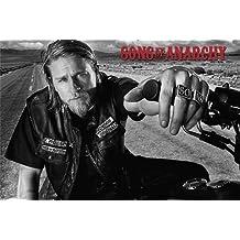 """Póster Sons of Anarchy/Hijos de la anarquía """"Jason Jax Teller"""" (91,5cm x 61cm) + 1 póster sorpresa de regalo"""