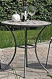 linoows Gartentisch Rijeka, Mosaik Möbel im Mediterrane Stil, Tisch Rund 60 cm.