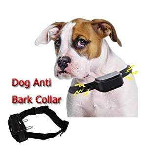 Anti Bark Static Shock Pet Dog Training Collar for Medium/ Large dog Effective on dogs from 5lbs to 150lbs - with Adjustable Sensitivity Control - Stop Dog Barking - Peace and Quiet for Self & Neighbours from GumpTrade