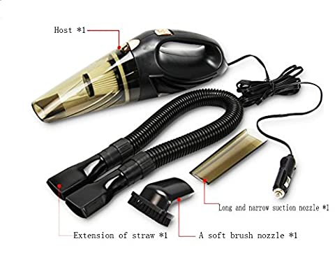 SHISHANG Multi-function car vacuum cleaner brush + long mouth + long tube high power 100W smoke-type wet and dry vacuum cleaner voltage 12 (V) ABS material line length 450CM super strong suction