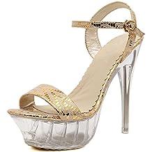 ZPFFE Tacchi Alti Tacchi Trasparenti Sexy Stiletto Sandali Con Tacco Estremo Per Le Donne Scarpe Da Sera Eleganti Scarpe Da Sera