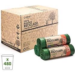 RELEVO 100% Reciclado Bolsas de Basura, Extra Resistentes 30 L, 480 Bolsas