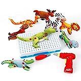 LOGOOO DIY Puzzle Mosaik Verschiedene Tier Bohrmaschine Demontiert Bausteine   Zusammengesetzt Bausteine   Spielzeug Kinder Lernspielzeug Über 3 Jahre Alt