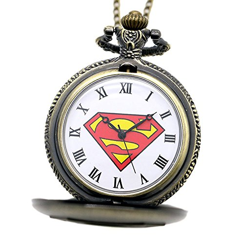 Superman Logo Antique Bronze Effect Retrovintage Case Mens Quartz