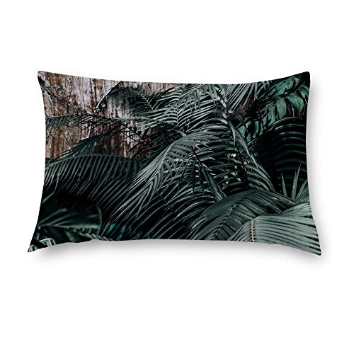 AILOVYO Pillow Cover Branch Green Leaves Wood Grain Polyester Pillow Case Home Decor 16 x 24 Inch