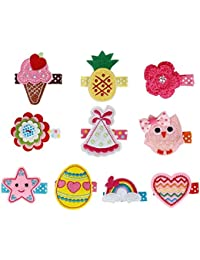 Bundle Monster 10 pc Bañador para bebé diseño de tela con rosas adornos para accesorios bordado