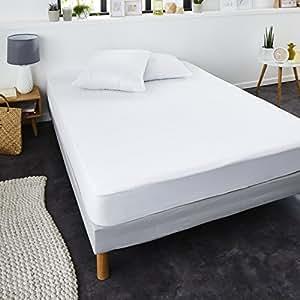 Sweet Home - 8853 - Coprimaterasso Impermeabile in Spugna, Traspirante e Silenzioso, Bianco, 140x190/200 cm
