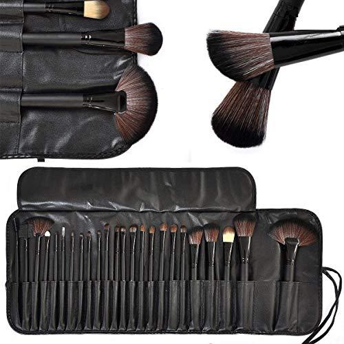 URBAN MAC Brush Book Makeup Brush Collection, BLACK(Combo Of 24)