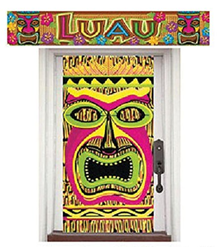 Luxuspiraten - Party Dekoration Hawaii Tiki Aloha Motto Banner Poster Hula Folie Set, Mehrfarbig (Hula Girl Halloween Kostüm)