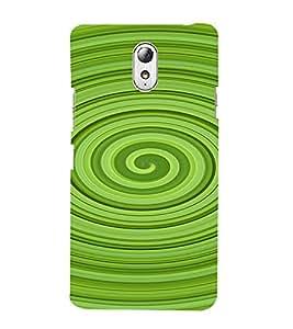 PrintVisa Spiral Pattern 3D Hard Polycarbonate Designer Back Case Cover for Lenovo Vibe P1M