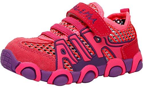 PPXID Chaussure de Sports Basket Mixte Enfant Tennis Running Basses Mesh Sneakers pour Fille Garcon
