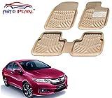#7: Auto Pearl 4D Car Foot Mat for Honda City Idtec (Set of 3, Beige)