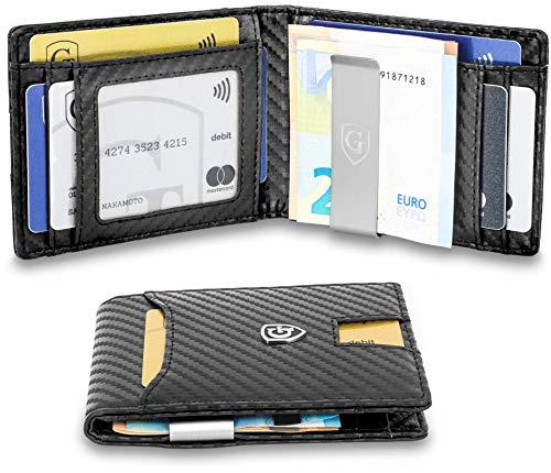 GenTo Herren Designer-Geldbörse Singapur mit Geldklammer und Münzfach - TÜV geprüfter RFID, NFC Schutz | Design Germany