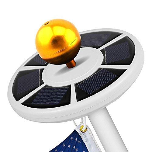 fahnenstange fuer garten GGG New 26LED Hohe Helligkeit Weiß Rund Design Solar Powered LED Fahnenstange Licht Auto-On für Outdoor Garten Zaun Yard