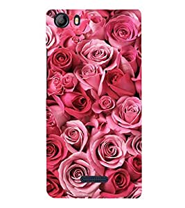 Pink Roses 3D Hard Polycarbonate Designer Back Case Cover for Micromax Canvas 5 E481