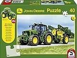 SCHMIDT SPIELE 40Teile + Siku Traktor John Deere Traktor 6630
