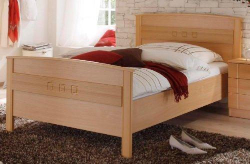 Einzel-Komfortbett in Buche Dekor