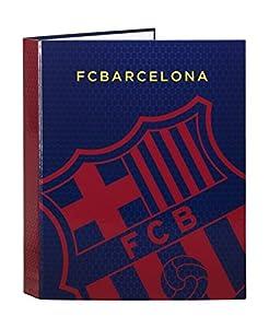 Futbol Club Barcelona- F.C Barcelona Carpeta Folio 4 Anillas Mixtas, Color Azul/Granito (SAFTA 511572067)