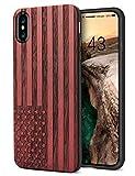 iPhone X Hülle Holz, YFWOOD iPhone X für Junge, Palisander Schnitzen für iPhone X Hülle Cover...